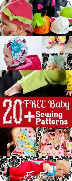 An index of all of the Free Baby Patterns available on Fleece Fun. Babies are so much fun to sew for!  Here you'll find all kinds of baby sewing projects.  From quick ideas for a baby shower gift t...