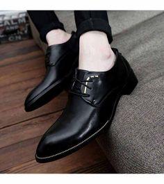 Black rivet plain derby lace up dress shoe Men's Shoes, Shoe Boots, Dress Shoes, Shoes Men, Leather Shoe Laces, Black Leather Shoes, Shoe Shop, Shoes Online, Pse Archery