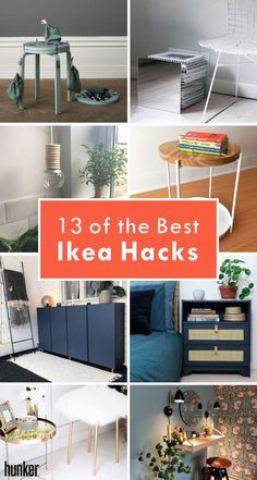 Ikea hacks you need to see to believe! Tiled desks, macrame headboards, cane bedside tables and more onsite! #ikeahack #ikea #diy