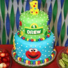 Sesame Street Party Cake #sesamestreet #party