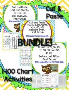 Revised  Cut-Paste 1-30, 1-50, 51-100 Charts, By 2s, 5s,10