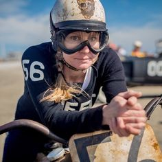 https://flic.kr/p/zU7hv3 | Are you ready? Yup, she's ready!   #race #wildwood #NJ #hotrod #vintage #race #dragrace http://www.mikepeters-photography.com/Category/The-Race-of-Gentlemen/ #theraceofgentlemen #lumixlounge #gx8 #voigtlander #womenwhorace #fastwomen #motorcycleracing