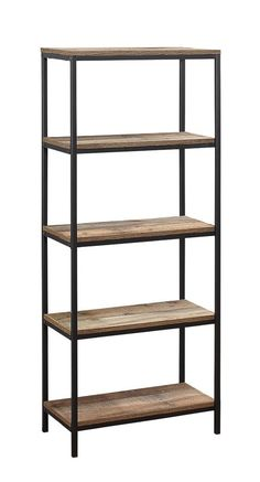 Dress up home furnishings with an industrial touch by adding this rustic bookcase to proudly display your book collection. Rustic Bookcase, Cube Bookcase, Etagere Bookcase, Interior Decorating, Interior Design, Decorating Ideas, Structure Metal, High Quality Furniture, House Layouts