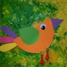 Zwei quitschbunte v gel fr hling pinterest vogel fr hling und basteln mit kindern - Fruhlingsbasteln kindergarten ...