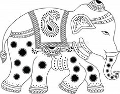 Decorated indian elephant Stock Photo - 17097491
