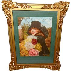 Small Frederick Duncan Calendar Print of Autumn's Treasures - Ornate from madgelee on Ruby Lane