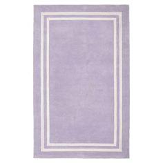 Decorator Border Rug, Lavender #pbteen Kate's Room