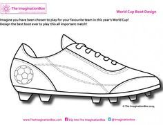 Kids free printable activity sheets to design your own soccer / football team kits, boots, balls, socks and Football Team Kits, Football Crafts, Football Shoes, Soccer Theme, Soccer Art, Kids Soccer, Soccer Room, Vive Le Sport, World Cup 2014