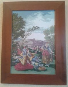"""""""La merienda de Goya"""" en punto de cruz"""
