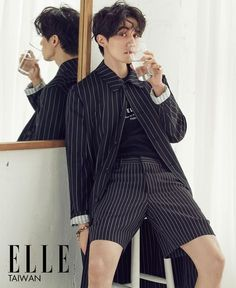 Actor Lee Dong Wook is this month's cover model for 'Elle Taiwan'. After modeling various styles ranging from chic to sporty, Lee Do… Asian Actors, Korean Actors, Korean Guys, Korean Dramas, Lee Dong Wook Goblin, Lee Dong Wok, Song Joong, Park Hyung, Yoo Gong
