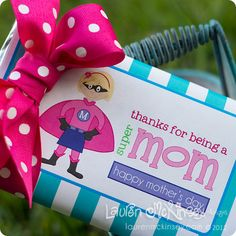 celebrate the SUPERmom in your life with this adorable jumbo candy bar wrapper FREEBIE! Love You Mom, Mothers Love, Happy Mothers Day, Candy Bar Wrapper Template, Candy Bar Wrappers, Blue Candy Bars, Random Gifts, An Affair To Remember, Card Ideas