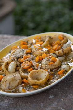 "Greek Vegetarian: Anginares a la Polita (Artichoke Stew ""of the city"")"