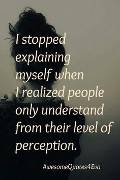 Stop explaining yourself
