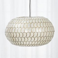 "$329 luna cadiz pendant 25.5"" x  13.75  Cord is 108"" long and is adjustable by cutting.  Comes with canopy and light socket."