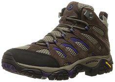 Merrell Womens Moab Ventilator Mid Hiking Boot BrackenPurple 8 W US *** You can find out more details at the link of the image.
