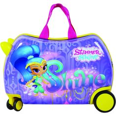 Shimmer and Shine Cruizer Shimmer Ride-On 16-inch Hardside Rolling Suitcase