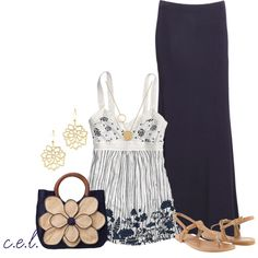 Navy Maxi, created by sweetlikecandycane on Polyvore
