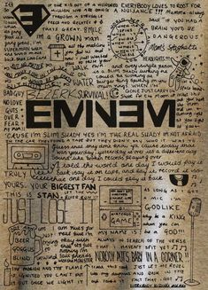 Official Eminem Whatever T-Shirt The Slim Shady Curtain Show Relapse Marshall