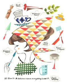 i like to think this is how i look in the kitchen. must get a kerchief. (kyoko aoyama)