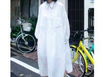 WHITE Cotton Oversize Plus Size Shirt Maxi Dress