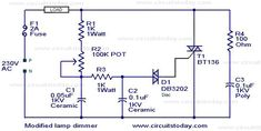 Modified lamp dimmer circuit – Electronic Circuits and Diagram-Electronics Projects and Design