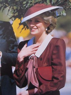 October 31, 1985:  Princess Diana in Kamloops at a dedication of the Princess Diana Rose Garden in Riverside Park.
