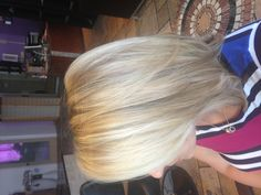 Pearl blonde color and cut July 2013