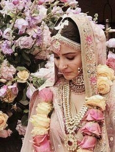 Anushka Sharma and Virat Kohli Wedding Wear - Bollywood Wedding, sabysachi wedding lehenga, anushka real wedding lehenga, Indian Bridal Fashion, Indian Bridal Makeup, Indian Wedding Outfits, Bridal Outfits, Bridal Dresses, Indian Weddings, Nigerian Weddings, African Weddings, Bridal Hair