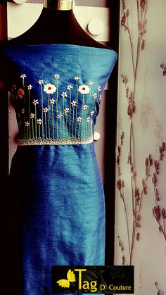 36 Trendy Sewing Projects For Women Art Styles Embroidery On Kurtis, Kurti Embroidery Design, Embroidery On Clothes, Embroidered Clothes, Hand Embroidery Designs, Embroidery Patterns, Hand Embroidery Flowers, Baby Embroidery, Embroidery Suits