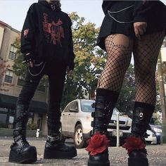 Edgy Outfits, Grunge Outfits, Grunge Fashion, Gothic Fashion, Girl Outfits, Fashion Outfits, Punk Goth Fashion, Pastel Goth Outfits, Scene Outfits