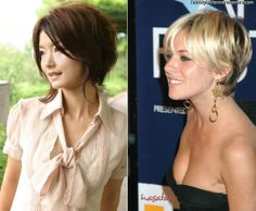 short hairstyles for round faces women over 50