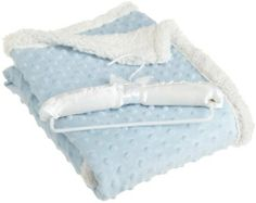 Northpoint Beau Bebe Giggle Sherpa Baby Blanket, 30 by 40-Inch, Baby Blue by Northpoint. $26.67. Blanket comes in 6 inviting pastel colors for baby boys and girls making a perfect newborn gift. Blanket comes on beautiful satin hanger. 100% Polyester easy to care for. Ultra comfy bubble dot textured mink reverses to warm and fluffy Sherpa. Generous roomy 30x40 inch blanket perfect for swaddling. Our Giggle Sherpa baby blanket is ultra cozy, soft, and warm. Blan...