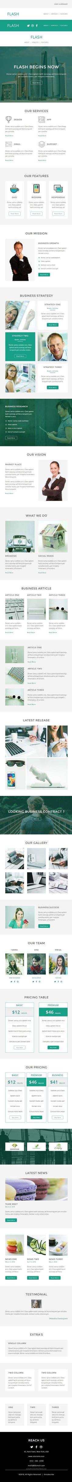 Corporate  Responsive Email Template  Stamp Ready Builder