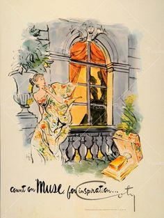 Muse Perfume by Coty- vintage ad- 1948 #perfume #fragrance