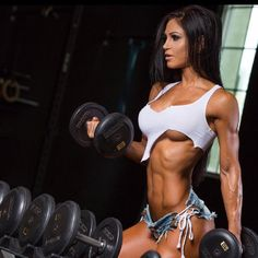 girl with muscle Anita Herbert