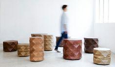 Hocker afrikanischer Stil Designer Möbel Klassiker