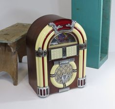 Vintage Jukebox Radio Cassette Player AM/FM by 13thStreetEmporium, $60.00