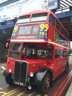 Vintage Cars Vintage RT bus on route 100 Vintage London, Old London, London Transport, Public Transport, Richard Branson, Rt Bus, Ashok Leyland, Routemaster, Automobile