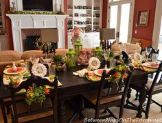 Easter Spring Luncheon Table Setting 1