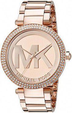 cf92824c1b450 Great gift idea Michael Kors Women s Parker Rose Gold-Tone Watch MK5865   Handbagsmichaelkors