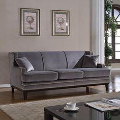 Modern Soft Velvet with Nailhead Trim Details - Colors Royal Blue, Grey (Grey) Divano Roma Furniture http://www.amazon.com/dp/B01A4MM2MM/ref=cm_sw_r_pi_dp_BK1Wwb1ZHYPMH