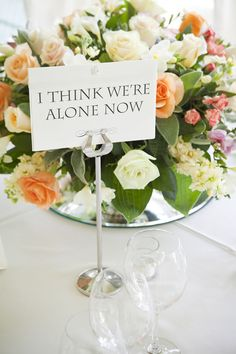 Name tables after songs, every time the song plays that table has to get up and dance..