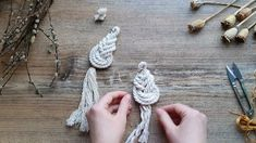 Boho and vintage style clothes for kids and adults by HohoBoho Fringe Earrings, Diy Earrings, Macrame Earrings Tutorial, Earring Tutorial, Macrame Wall Hanging Diy, Micro Macramé, Macrame Design, Macrame Projects, Boho Diy