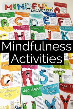 Mindfulness activities for elementary school counseling: 26 mindfulness exercises are included for mindfulness classroom guidance lessons, mindfulness group counseling, mindfulness morning meetings, or any classroom mindful moments. These mindful monsters make the perfect mindfulness activity for your mindful moments and kids meditation!