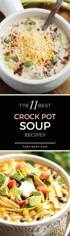11 Best Crockpot Soup Recipes
