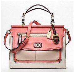 Pink Coach handbag--  Don't normally like Coach. But this is so cute!!