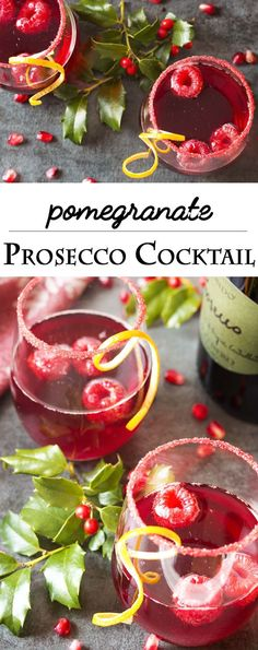 Easy, delicious, and full of bubbles! This pomegranate prosecco cocktail has everything you need for a great holiday drink. | justalittlebitofbacon.com