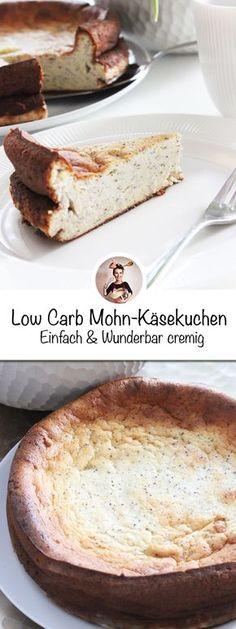 Jetzt habe ich mal einen besonderen Käsekuchen gebacken, denn man sogar ganz ohne schlechtem Gewisse essen kann. Einen köstlichen Low Carb Mohn-Käsekuchen ist neulich aus meinem Backofen gesprungen. #LowCarb #Käsekuchen #Cheesecake #Mohn #backen
