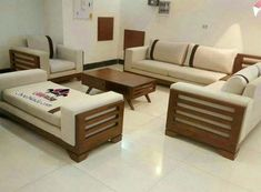 33 Awesome Wooden Furniture Design Ideas For Living Rooms - HOMEPIEZ Sofa Bed Design, Living Room Sofa Design, Bedroom Furniture Design, Sofa Furniture, Living Room Designs, Wooden Furniture, Living Rooms, Furniture Makeover, Furniture Ideas