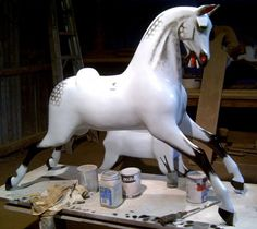 Restoration of an old Ayres rocking horse
